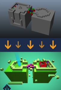 Level 3 block-out + finalized in-game version.