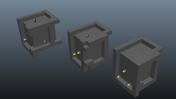 Different iterations for the level 2 puzzle.
