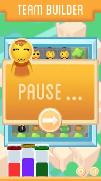 Pause menu.